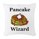 Pancake Wizard Woven Throw Pillow