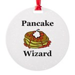 Pancake Wizard Round Ornament