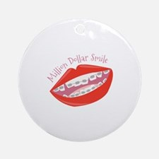 Million Dollar Smile Ornament (Round)