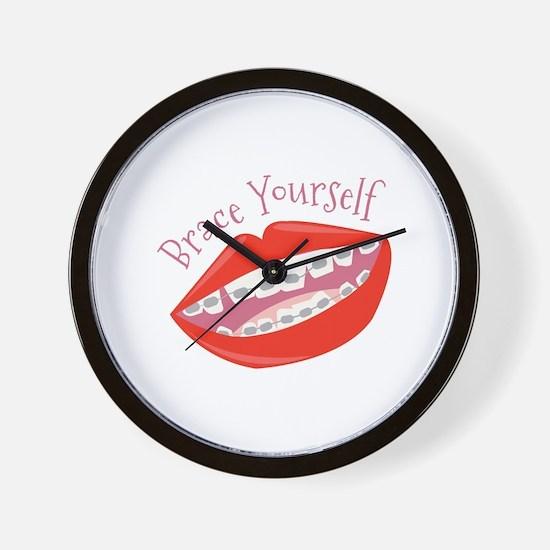 Brace Yourself Wall Clock