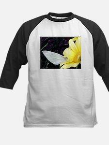 Butterfly on Yellow Flower Baseball Jersey