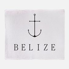 Belize Sailing Anchor Throw Blanket