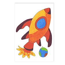 Rocket Ship Postcards (Package of 8)