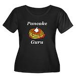 Pancake Women's Plus Size Scoop Neck Dark T-Shirt
