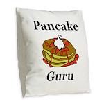 Pancake Guru Burlap Throw Pillow