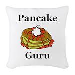 Pancake Guru Woven Throw Pillow