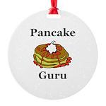 Pancake Guru Round Ornament