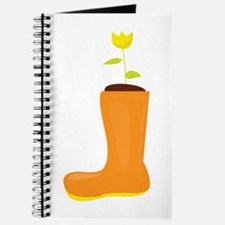 Floral Boot Journal