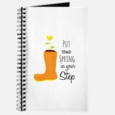 Spring In Step Journal