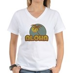 Aloha Palm Women's V-Neck T-Shirt