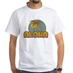 Aloha Palm White T-Shirt