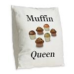 Muffin Queen Burlap Throw Pillow