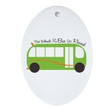 Wheels On Bus Ornament (Oval)