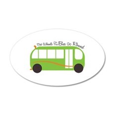 Wheels On Bus Wall Decal