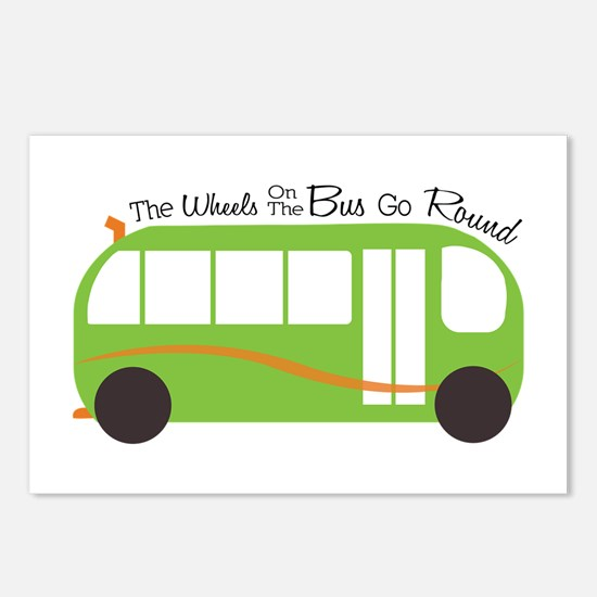 Wheels On Bus Postcards (Package of 8)
