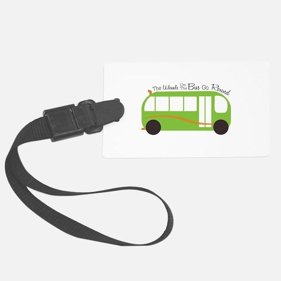 Wheels On Bus Luggage Tag