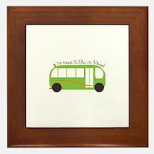 Wheels On Bus Framed Tile
