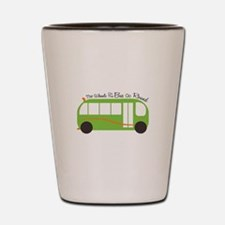 Wheels On Bus Shot Glass