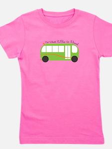Wheels On Bus Girl's Tee