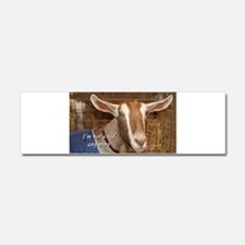 I'm not a kid any more: goat Car Magnet 10 x 3