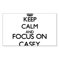 Keep calm and Focus on Casey Decal