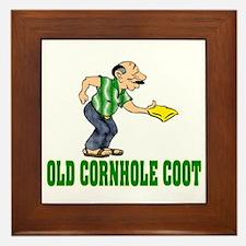 Old Cornhole Coot Framed Tile