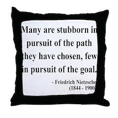 Nietzsche 21 Throw Pillow