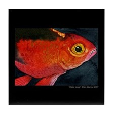 Tropical Goldfish Tile Coaster