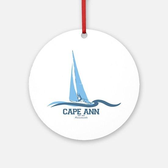 Cape Ann. Ornament (Round)