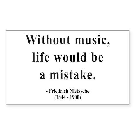 Nietzsche 22 Rectangle Sticker
