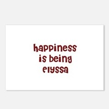 happiness is being Elyssa Postcards (Package of 8)