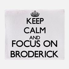 Keep calm and Focus on Broderick Throw Blanket