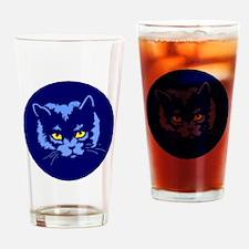 Blue Cat Drinking Glass