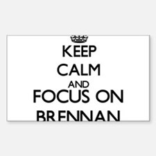 Keep calm and Focus on Brennan Decal