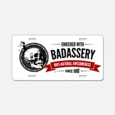 Enriched with Badassery sin Aluminum License Plate