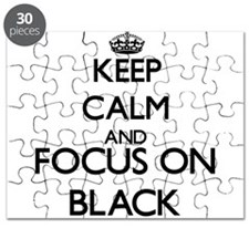 Keep calm and Focus on Black Puzzle