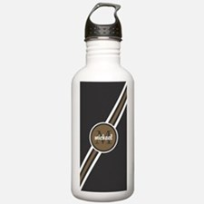 Masculine Tan and Gray Water Bottle