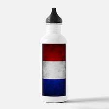 Grunge French Flag Water Bottle