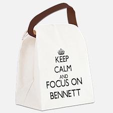 Keep calm and Focus on Bennett Canvas Lunch Bag