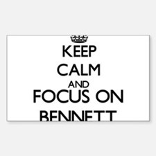 Keep calm and Focus on Bennett Decal