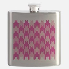 Pink CatsTooth Flask