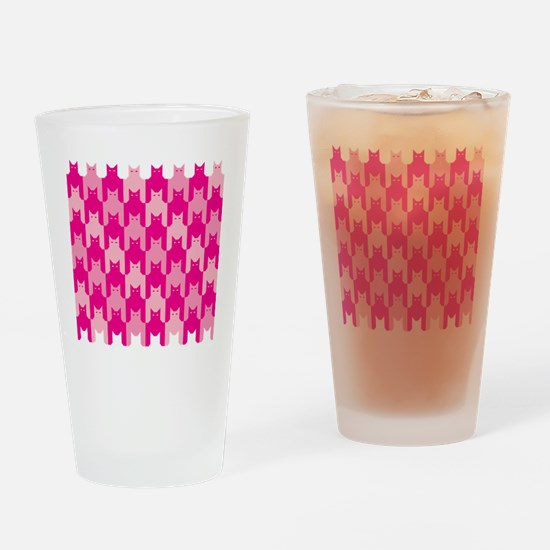 Pink CatsTooth Drinking Glass