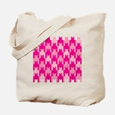 Pink CatsTooth Tote Bag