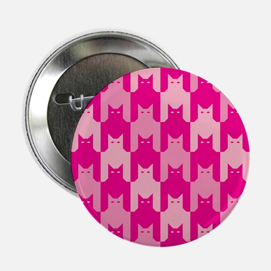 """Pink CatsTooth 2.25"""" Button (10 pack)"""