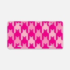 Pink CatsTooth Aluminum License Plate