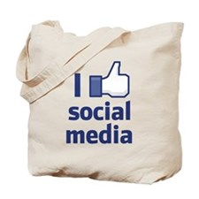 I Like Social Media Tote Bag