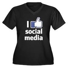 I Like Social Media Plus Size T-Shirt