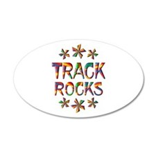 Track Rocks Wall Decal