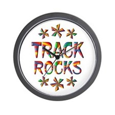 Track Rocks Wall Clock