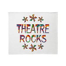 Theatre Rocks Throw Blanket